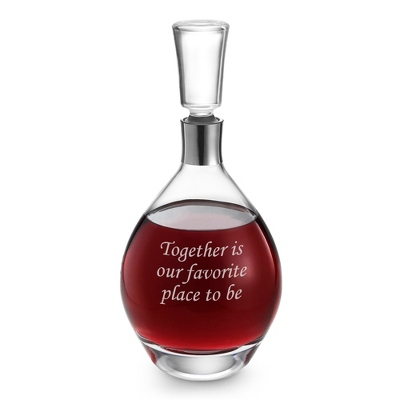 Aurora Personalized Glass Decanter