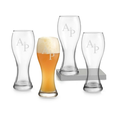 Wheat Beer Set of 4 with Monogram