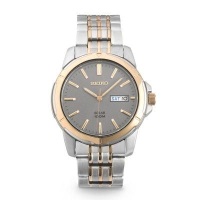 Seiko Solar Grey Dial Watch SNE098 - UPC 29665154972