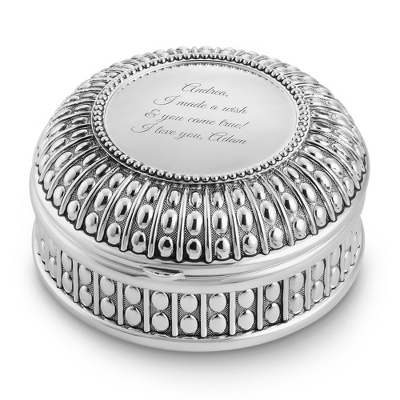 Antique Round Keepsake Box - Jewelry & Keepsake Boxes