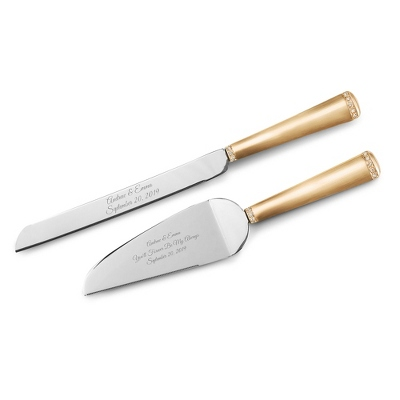 Gold Princess Cake Servers