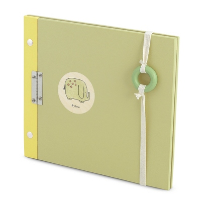 Whimsical Green Elephant Personalized Photo Album