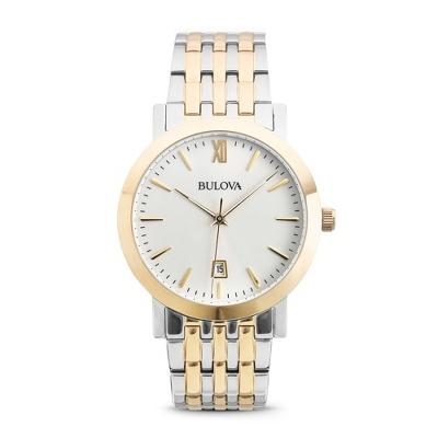 personalized bulova silver and gold wrist 98b221 by