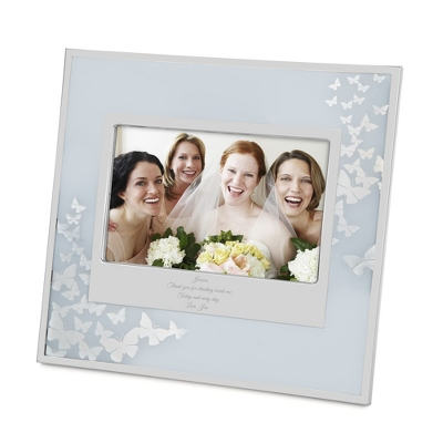 Etched Butterfly Picture Frame