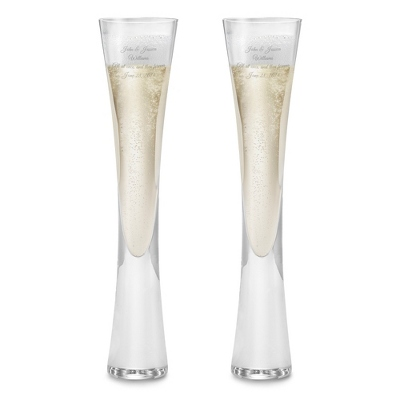 Personalized Wedding Flute Glasses - 23 products
