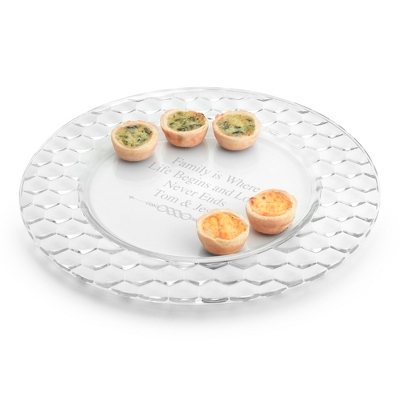 Honeycomb Glass Charger Plate - UPC 825008033245