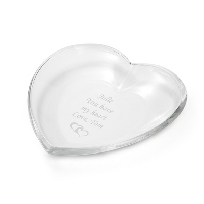 Glass Heart Serving Tray - New Gifts for the Home