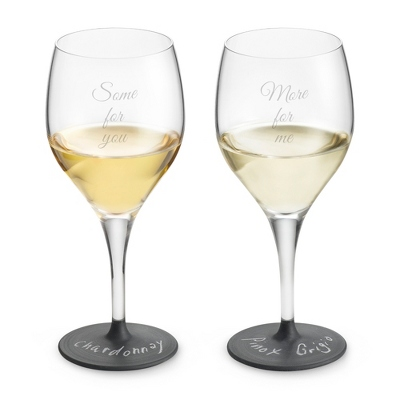 Set of Two Customized Chalkboard Wine Glasses - $45.00