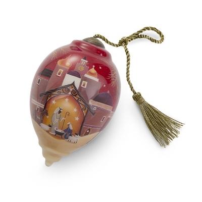 Hand Painted Bethlehem Christmas Ornament - All Christmas Ornaments