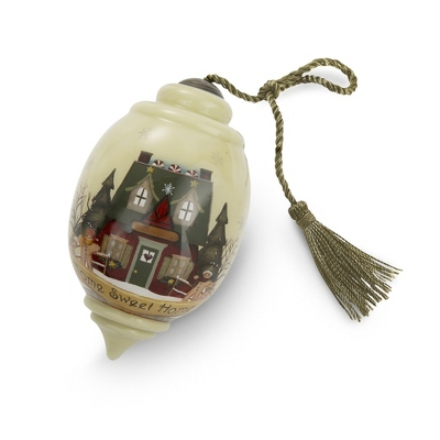 Hand Painted Home Sweet Home Christmas Ornament