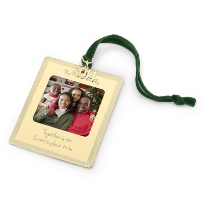 2014 Gold Christmas Photo Ornament - All Christmas Ornaments