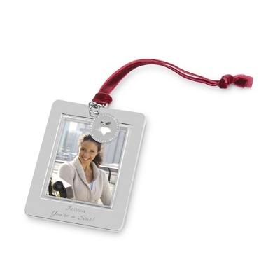 Pierced Star Photo Frame Ornament - All Christmas Ornaments