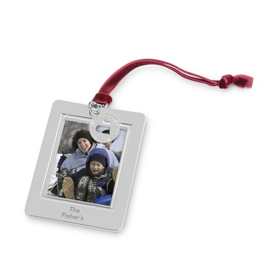 Pierced Heart Photo Frame Ornament