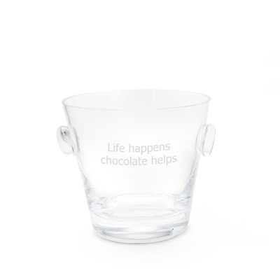Engravable Champagne Bucket and Chocolates - UPC 825008033719