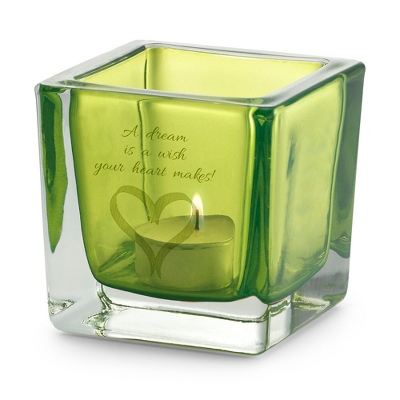 Personalized Green Votive Candle Holder - UPC 825008033771