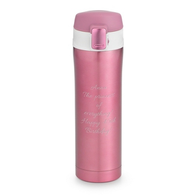Pink Insulated Travel Mug - Drinkware for Her