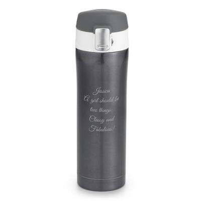 Silver Insulated Travel Mug