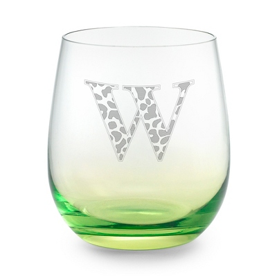 Green Personalized Glass Tumbler