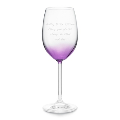 Purple Personalized Wine Glass - Wine Glasses
