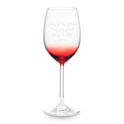 Red Personalized Wine Glass - UPC 825008034013
