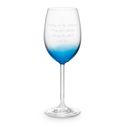 Blue Personalized Wine Glass - Wine Glasses