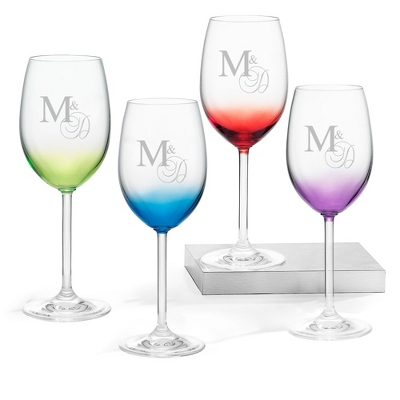 Wine Glasses with Monogram