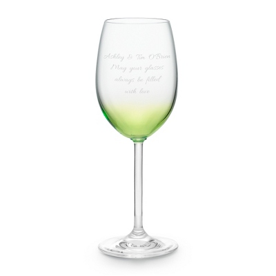 Green Personalized Wine Glass