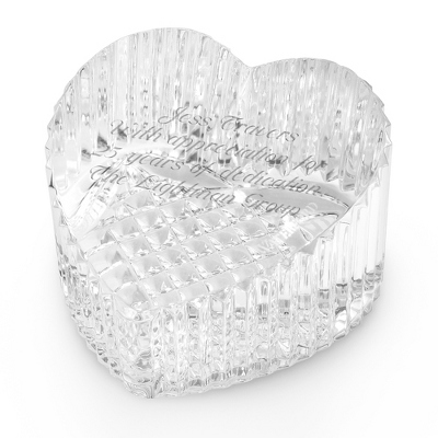 Waterford Heart Paperweight - $85.00