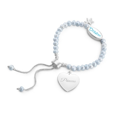Girl's Blue Pearl Dream Bracelet with complimentary Filigree Heart Box
