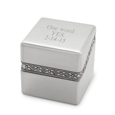 Silver Ring Box - Jewelry & Keepsake Boxes