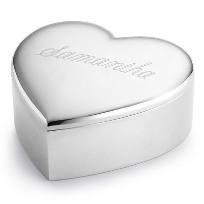 Silver Heart Keepsake Box