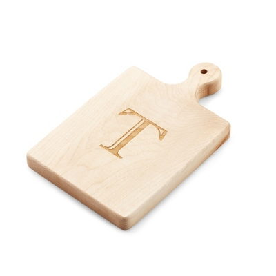 "Personalized 9"" Cutting Board With Single Initial - $25.00"