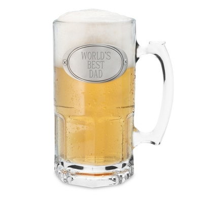 "Engraved Moby Beer Mug, ""World's Best Dad"""