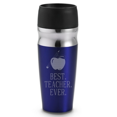Personalized Blue Travel Mug For Teachers - Drinkware for Her
