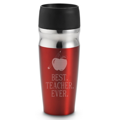 Personalized Red Travel Mug For Teachers - Drinkware for Her