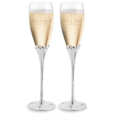 Engraved Everlasting Flutes with Two Lines to Personalize - $45.00