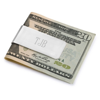 Engraved Marvin Money Clip - Initials or Monogram