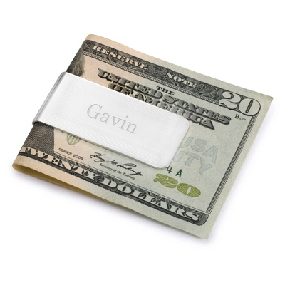 Engraved Marvin Money Clip with Name Included - Men's Accessories