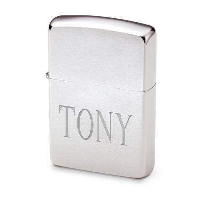Engraved Chrome Zippo Lighter with Name Included