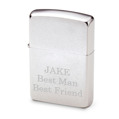 Engraved Chrome Zippo with Three Personalized Lines