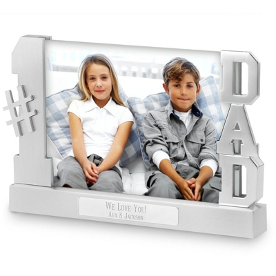 Personalized Dad Float Frame with Two Lines of Engraving