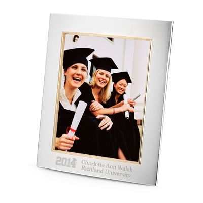 Silver 8x10 Portrait Frame with Engraving & Grad Design
