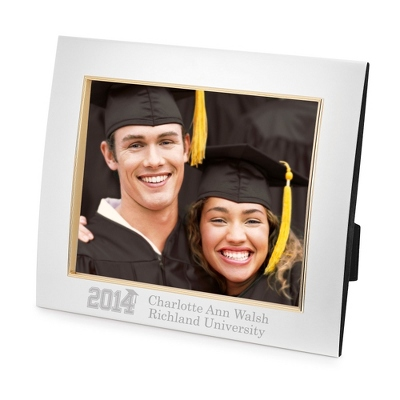 Silver 8x10 Landscape Frame with Engraving & Grad Design