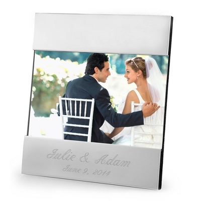 Personalized Modern Frame Engraved with Names & Date - UPC 825008041103