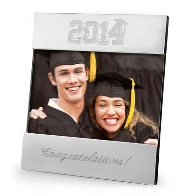 Personalized Modern Frame with Graduation Year Design - 2014 Keepsakes