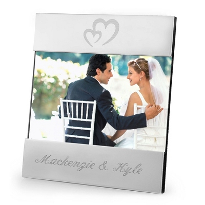 Personalized Modern Frame with Engraving & Heart Designs
