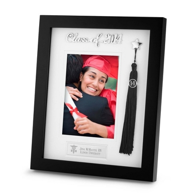 2014 Graduation Tassel Frame with Engraving & Grad Design