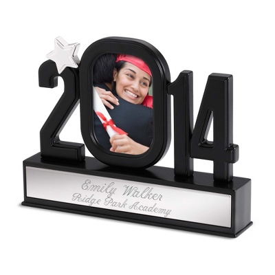 Engraved Grad Figural Frame Engraved with Name and School - Grad Gifts for Her