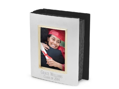Personalized Silver Photo Album - Add their name and date!