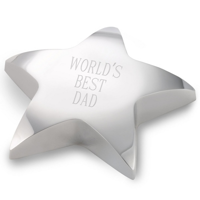 Personalized Star Paperweight For Dad - $25.00